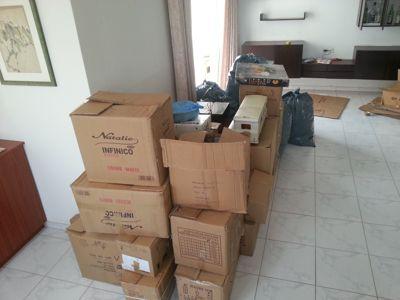 דירה בארגזים לאחר פינוי
